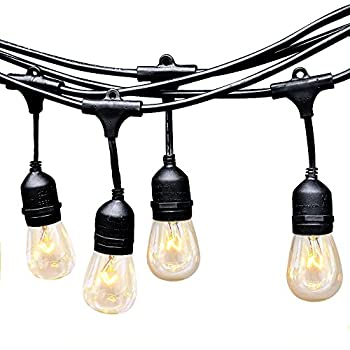 EAGWELL Outdoor String Lights - Heavy Duty Hanging Patio Cafe Pergola Rope String Backyard Light ...