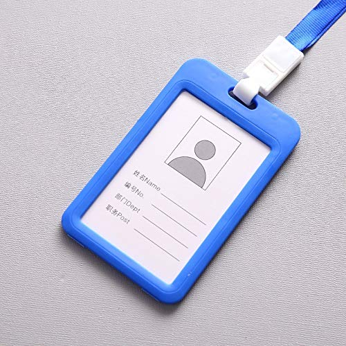 Loune Week Etya Bank Credit Card Holders Bus Id Name Holder for Student Card Cover Case Women Men Badge Wholesale Dropshipping Blue ()