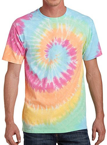 GoldenGateTees Tie Dye Tshirt Colorful Shirts for Men Colortone Cool Tee Pastel Rainbow S