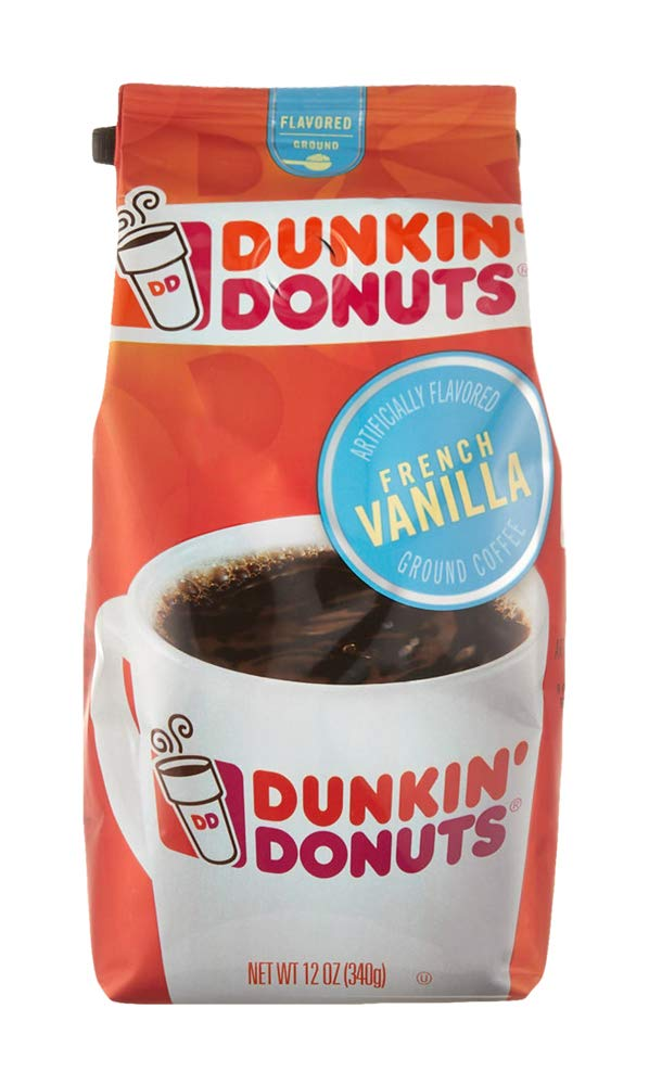 Dunkin' Donuts Coffee, French Vanilla Flavored Ground Coffee, 12 oz