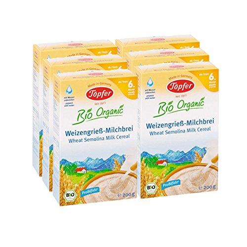 Cerámica orgánica gachas de sémola de trigo, 6-pack (6 x 200 g