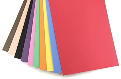 Amazon Com Hygloss Sheets For Crafts Colorful Foam For Diy Arts