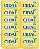 Cidal Natural Antibacterial Soap Bars 125g x 12 - Neutralises odours, Fresh by CIDAL