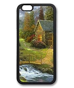 Mountain paradise Custom Personalized Design DIY Back Case for iPhone 6 4.7 TPU Black -1210453