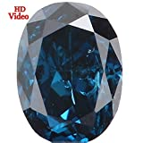 0.13 Ct Natural Loose Diamond Oval Shape Blue Color SI2 Clarity 3.60X2.60X1.70 MM L2265