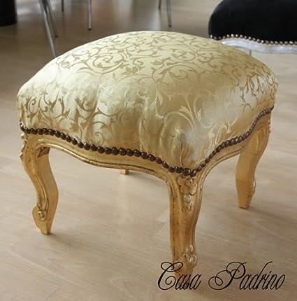 Casa Padrino Barock Fußhocker Gold Mustergold Antik Stil Möbel