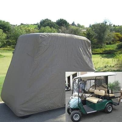 4 / 2 Passengers Golf Cart Storage Cover For EZ Go Club Car Taupe Waterproof