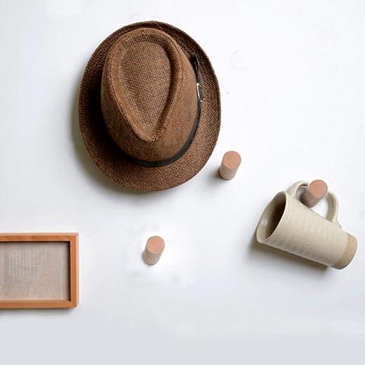 Amazon.com: jinmury de madera natural ganchos sombrero ...