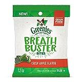 Greenies Breath Buster Bites Crisp Apple Flavor Treats For Dogs 1.2 Ounces