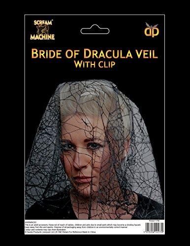 Davies Halloween Bride Of Dracula Veil Spiders Web -