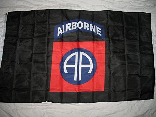 3x5 Military Black 82nd Airborne Flag 3'x5' Banner with Bras