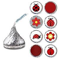 Ladybug Label for HERSHEY'S KISSES® chocolates - Birthday Baby Shower Stickers - Set of 240