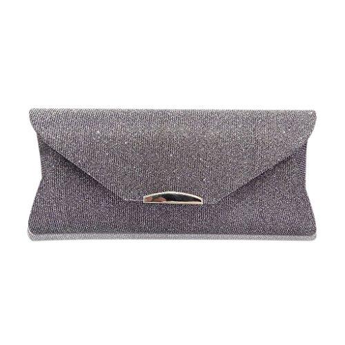 Deep Dabixx Wedding Handbag Prom Shoulder Envelope sposa Deep Pochette da Party Grey Evening Women Bag Grey TqHwxzT6r