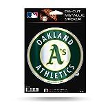 "Rico Industries, Inc. Oakland Athletics A's Rico 5"" METALLIC DECAL Die Cut Auto Sticker Emblem Baseball"