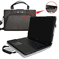 """Ideapad Z50 Case,Coustom Designed Protective PU Cover + Portable Carrying Bag With Handle Shoulder Strap For 15.6"""" Lenovo Ideapad Z50 15 series Laptop"""