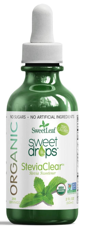 SweetLeaf Organic Sweet Drops Steviaclear Stevia Sweetener, 2 Oz