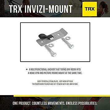 TRX Entrenamiento Soporte Invizi Mount, Convierte Cualquier habitación en un Gimnasio en un Instante. Un práctico Soporte de Pared y Punto de Apoyo