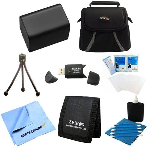 HDR-CX220 HDR-CX190 HDR-CX200 HDR-CX455//B HDR-CX290 NP-FV50 Battery Kit 8 pc Kit Deluxe Lens Cleaning Kit Bag Table-top Tripod Sony Handycam Camcorder FDR-AX53 HDR-CX210 HDR-CX675//B HDR-CX230