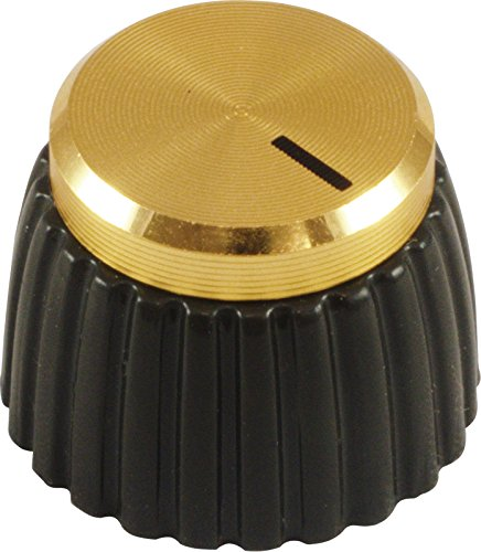 Marshall Guitar Amp Knobs, Gold Cap, Push On (Pkg 8) by Marshall