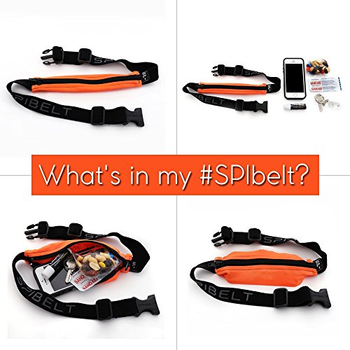 SPIbelt Large Pocket (Black with Blue Zipper, 25'' Through 47'') by SPIbelt (Image #5)