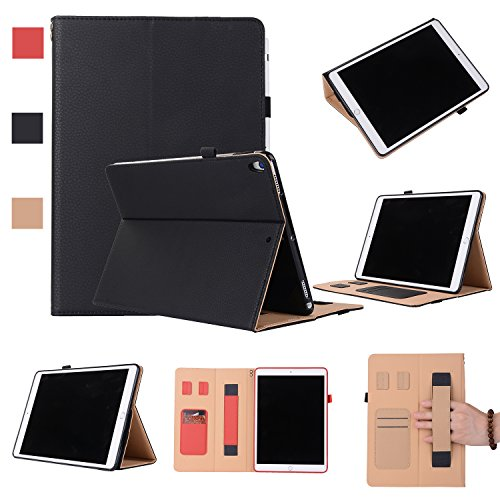 iPad Pro 10.5 2017 Case, SUPZY [NEW] Business Section Multi-Functional Leather Stand Case Cover for iPad Pro 10.5, Card Slots Holder - - Sunglasses Vegan Are