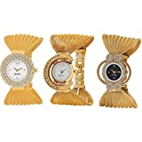 Swadesi Stuff Analogue White Dial Combo of 3 Women's Watch (All 3 design Jula)