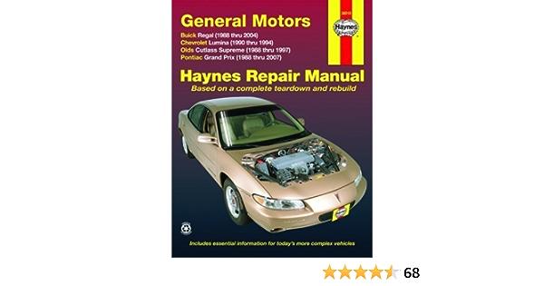 General Motors Buick Regal Chevrolet Lumina Olds Cutlass Supreme Pontiac Grand Prix 1988 2007 By Editors Haynes Mar 15 2009 Amazon Com Books