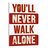 Liverpool FC You'll Never Walk Alone Poster Float Mounted - 90 x 60cms (Approx 36 x 24 Inches)