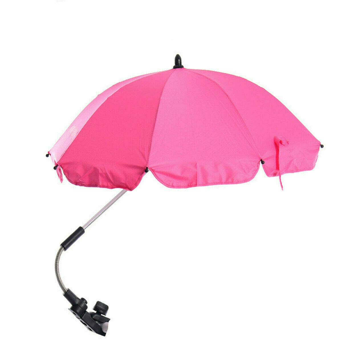 Global Supplies Present Flexible Baby Sun Umbrella Parasol Buggy Pushchair Shade in Rose Red