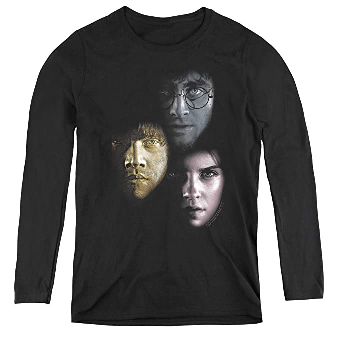 1115aaf73 Harry Potter Hero Heads Adult Long Sleeve T-Shirt for Women, Small Black