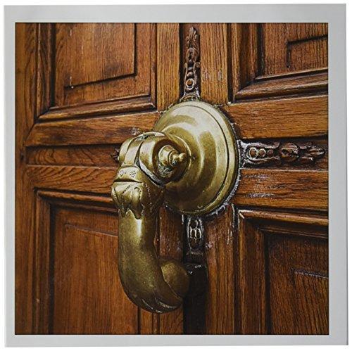 3dRose Belgium, Brussels, Grand Place, door knocker-EU04 WSU0003 - William Sutton - Greeting Cards, 6 x 6 inches, set of 6 (gc_71564_1)