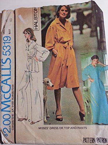 mccall-5319-halston-dress-top-and-pants-size-18