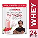 Jay Robb – Grass-Fed Whey Protein Isolate Powder, Outrageously Delicious, Strawberry, 23 Servings (24 oz)