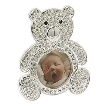 Marco CG247 plateado plata del oso de peluche, Crystal Inlay