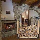 Qualward Fireplace Log Rack, Outdoor and Indoor