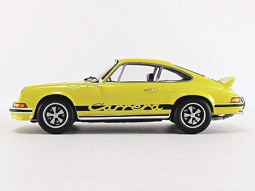 Norev Porsche 911 RS Touring 1973 gelb schwarz Modellauto 1:18