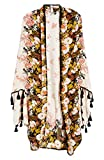 Free People Bali Wrapped in Blooms Shawl (Neutral Ivory)