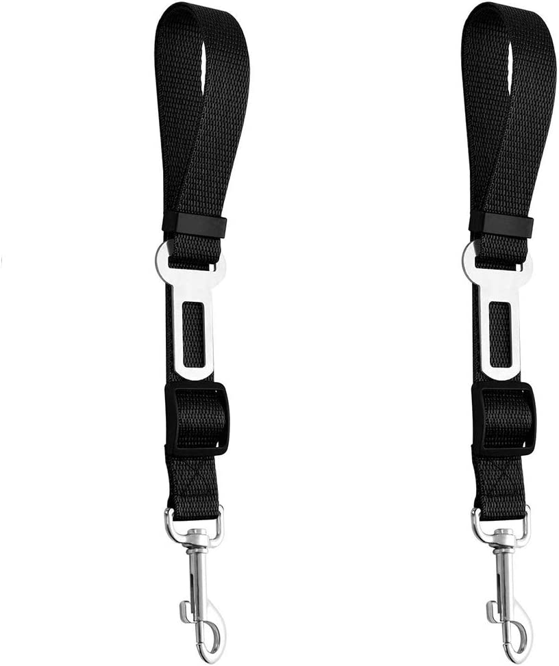 Pets Seat Belt Tether Restraint Harness Seat Belt Travel Clip Vehicle Auto Seatbelt Safe Buckle Durable Nylon Safety Leads 2 Pcs Adjustable Car Safety Seat Belts for Pet Dogs Cats Universal
