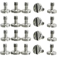 Steel Screws 1/4 Tripod Quick Release QR Plate Camera Flathead Slot Stainless SS ideal for Manfrotto / Sachtler (20)