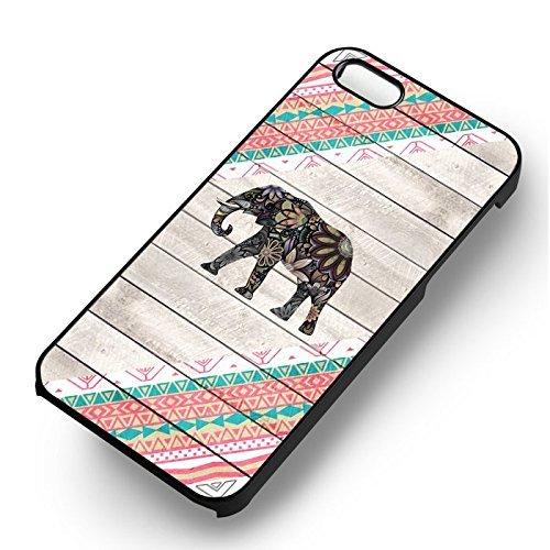Elephant Aztec pour Coque Iphone 6 et Coque Iphone 6s Case (Noir Boîtier en plastique dur) W8Q8VP