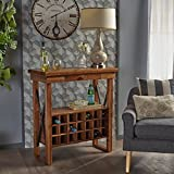 Jolam Traditional Light Oak Acacia Wood Wine Rack