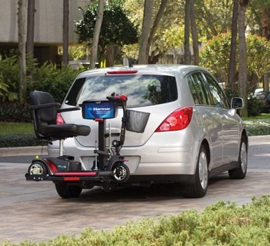 Harmar Mobility AL160 Profile Scooter Lift Outside Fully Automatic Carrier + Challenger Weather Cover
