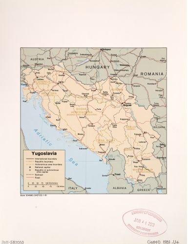 Map of Yugoslavia. Yugoslavia|Yugoslavia|s|Yugoslavia