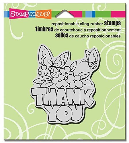 STAMPENDOUS CRQ228 Cling Stamp, Chunky Thank You