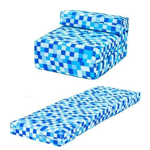Blue Pixels Design Single Foam Fold Out Z Bed Chair Guest Mattress Sleepover Ready Steady Bed