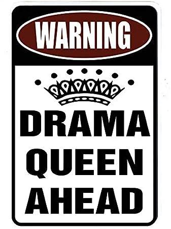 Drama Queen por delante - divertido cartel de metal de ...