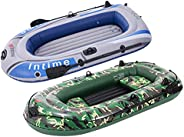 Inflatable Boat Kayak for Adult - 7.5Ft Raft Inflatable Kayak-3 Person Boat for Adults Fishing Boat Camouflage
