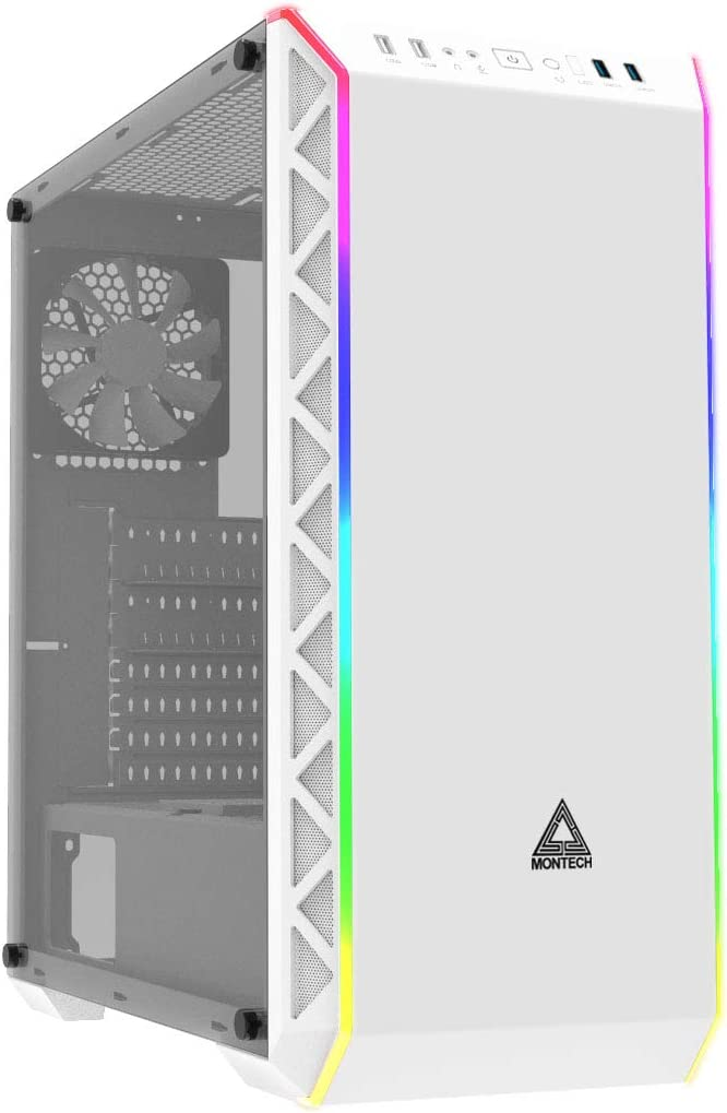 Proof//Computer Gaming Case//EATX,ATX Montech Air900 ARGB-White//High-Airflow//ATX Mid-Tower//ARGB Lighting Strip//Sync with Motherboard//Dust Mini ITX//Unique mesh Side//Dual USB3.0 Micro ATX