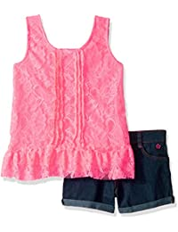 Limited Too Girls' 2 Piece Lace Ruffle Tank Top and...