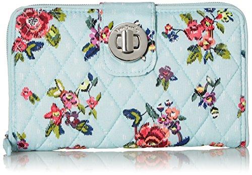 Vera Bradley RFID Turnlock Wallet, Signature Cotton, Water Bouquet by Vera Bradley